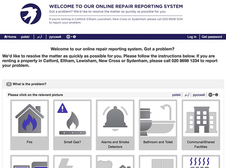 Flying start for tenants' online reporting system